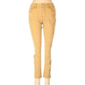 Vanity Mustard Yellow Distressed Ankle Jeans 27
